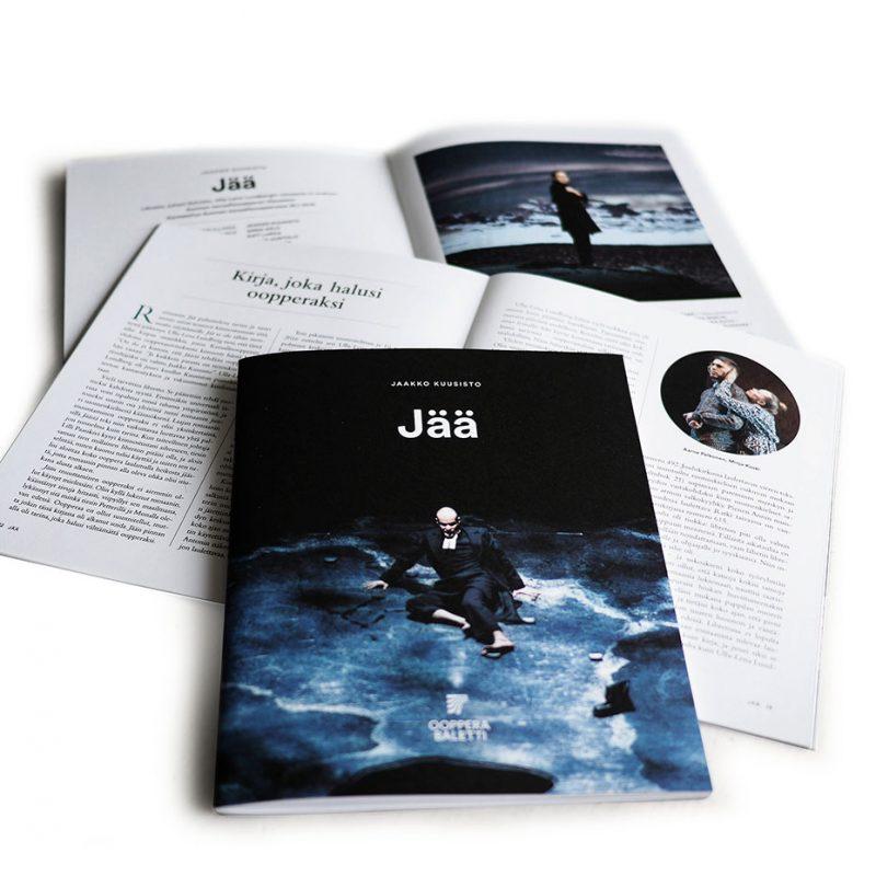Suomen-kansallisooppera-ja-baletti_Jää_oopperan käsiohjelman kansilehti
